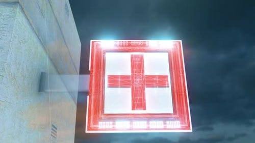 Digital Neon Pharmacy Sign Hd