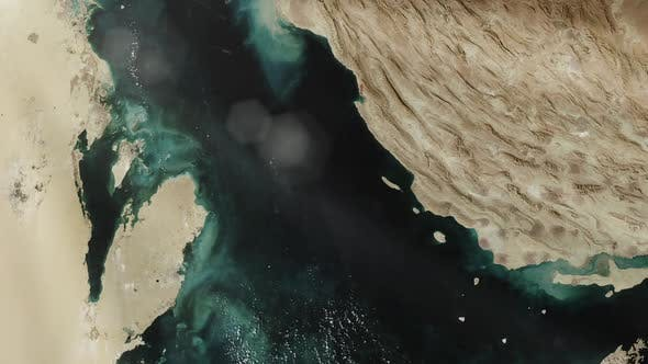 Persian Gulf from the International Space Station.