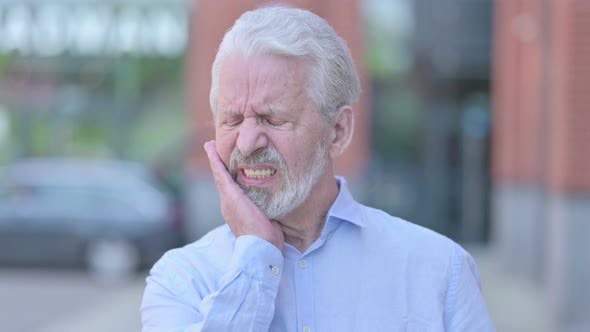 Thumbnail for Outdoor Sick Old Man Having Toothache