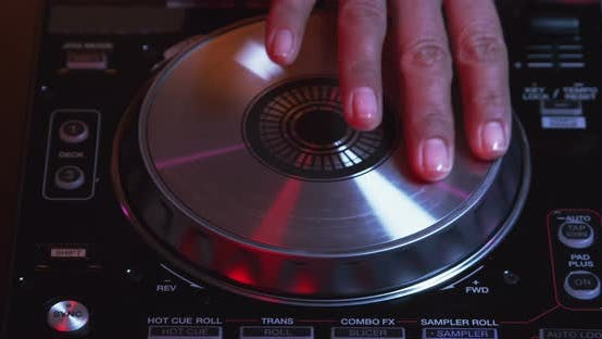 Thumbnail for DJ Hand Mixing And Scratching Turntable 09B