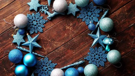 Thumbnail for Blue Decorative Snowflakes and Balls