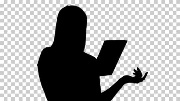 Silhouette woman , Alpha Channel