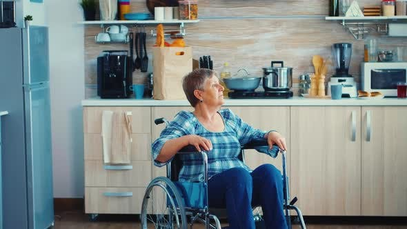 Thumbnail for Portrait of Disabled Senior Woman