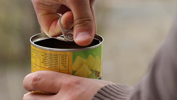 Thumbnail for Man Opens Canned Food