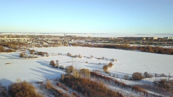 Thumbnail for Frozen River In The Industrial Town