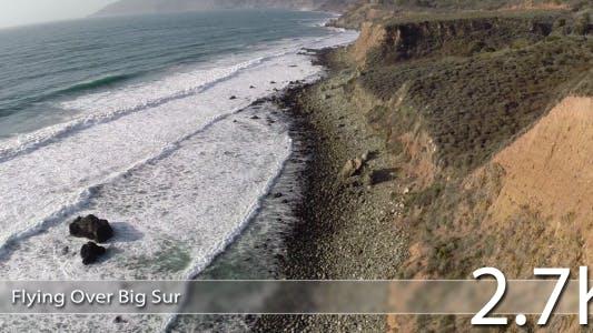 Flying over Big Sur