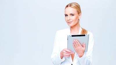 Executive Woman Using iPad