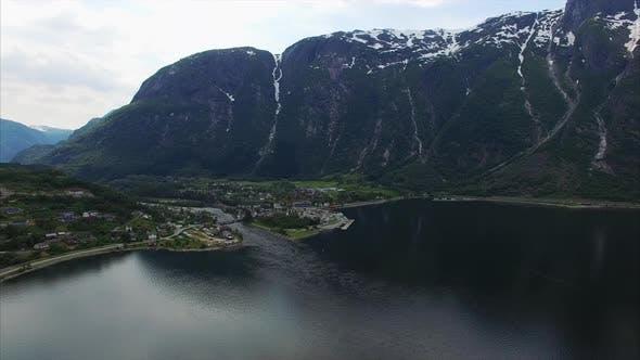 Thumbnail for Panorama autour du fjord en Norvège, images aériennes.