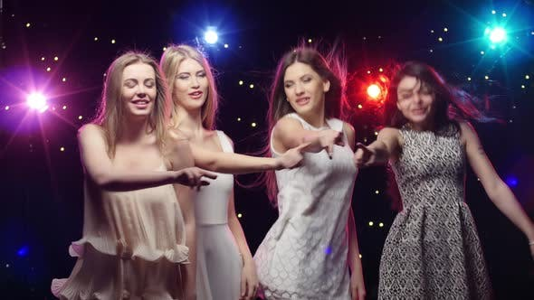 Thumbnail for Girls Are Dancing Making Hands the Similar Gestures