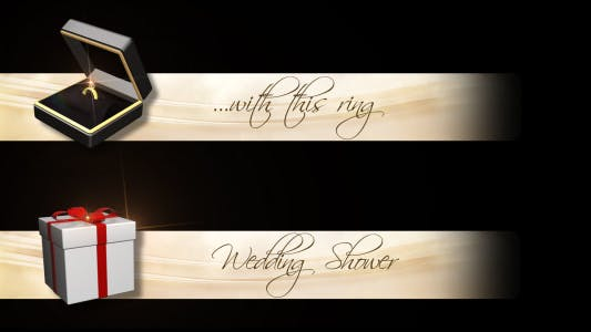 Thumbnail for Lower Third Wedding Rings  & Gift