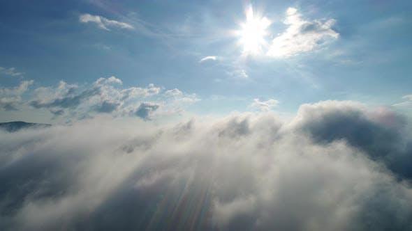 Beautiful Clouds Over Carpatian Mountains