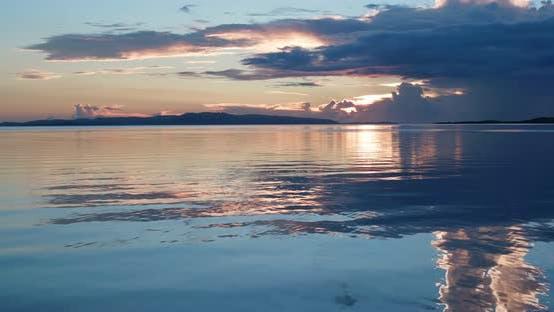Thumbnail for Beautiful ocean at sunset time