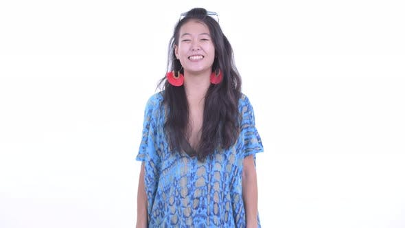 Thumbnail for Happy Beautiful Asian Tourist Woman Smiling and Ready for Vacation