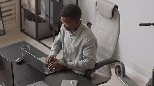 African American Software Developer at Workplace