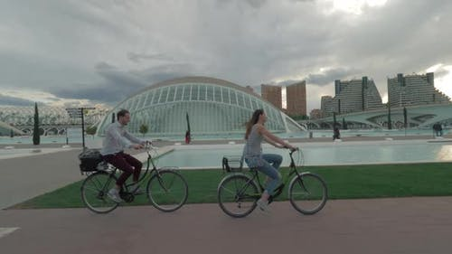 On Bicycles Along the City of Arts and Sciences