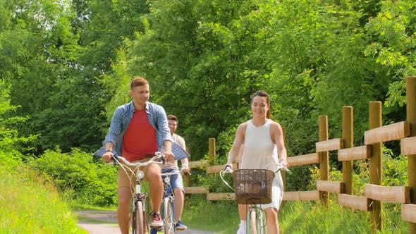 Thumbnail for Happy Friends Riding Fixed Gear Bicycles in Summer 54