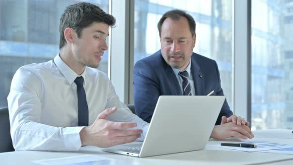 Thumbnail for Disappointed Businessmen Get Shock While Working on Laptop