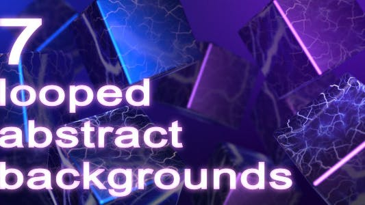 Thumbnail for 7 Abstract Looped Backgrounds Pack