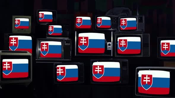 Thumbnail for Flags of Slovakia and Retro TVs.