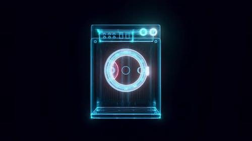 Washer Hologram 4k