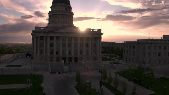 Thumbnail for View of the Utah State Capitol building during sunset