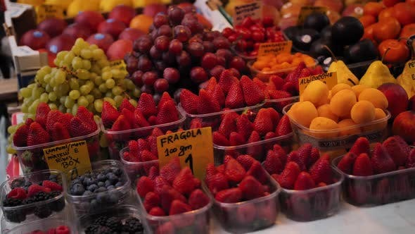 Cover Image for Strawberry Peaches Apples Fruits on Street Shop