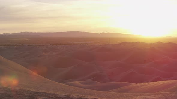 Thumbnail for Pan right view of sand dunes