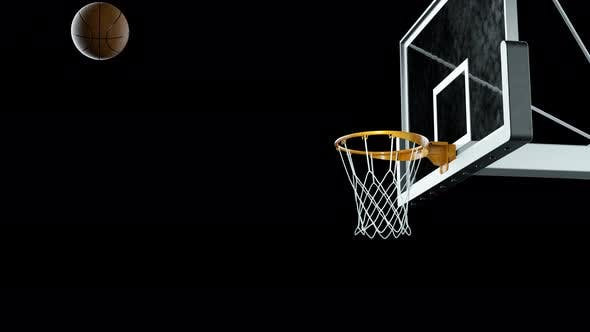 Thumbnail for Basketball Hit the Basket in Slow Motion on a Alpha Channel