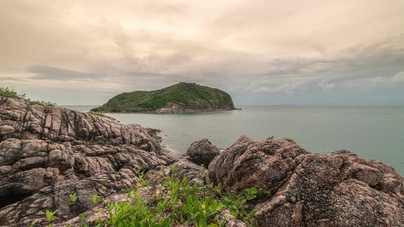 Thumbnail for Rocky beach on the background of the island Ko Ma in Koh Phangan island, Thailand