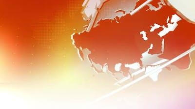 Digital World Map News Intro Background 2