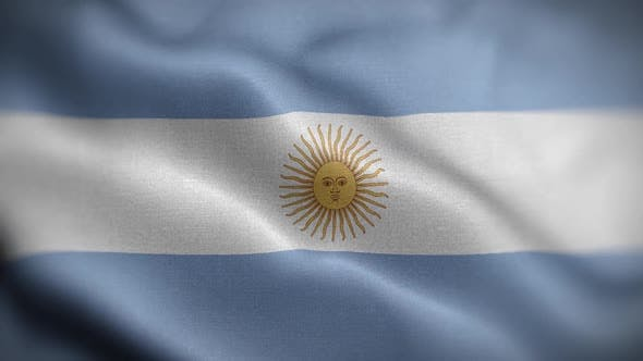Argentina Flag Textured Waving Front Background HD