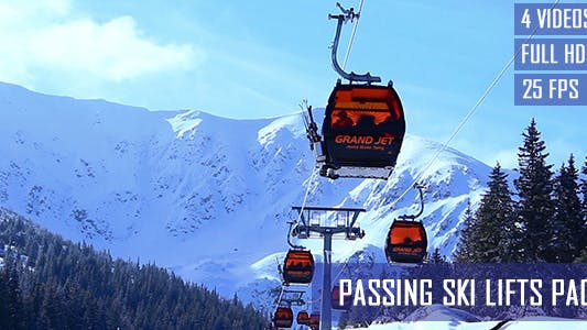 Thumbnail for Passing Ski Lifts (4-Pack)