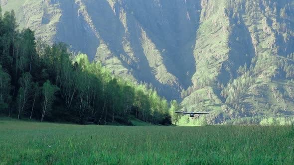 Light Sport Plane Lands 1