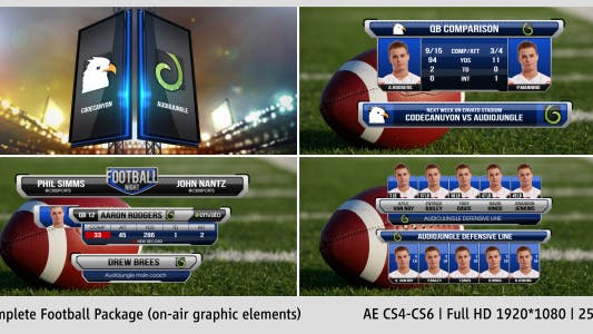 Thumbnail for Complete On-Air Football Package