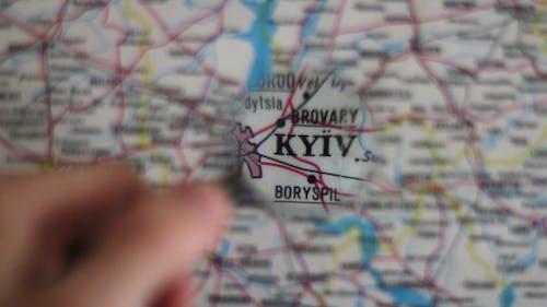 Kiew Stadt auf der Karte