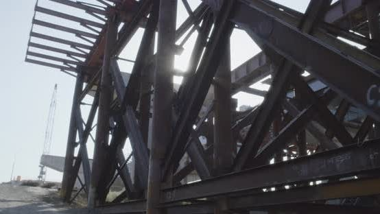 Metal Structure on Construction Site
