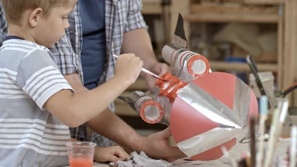 Thumbnail for Painting Handmade Rocket