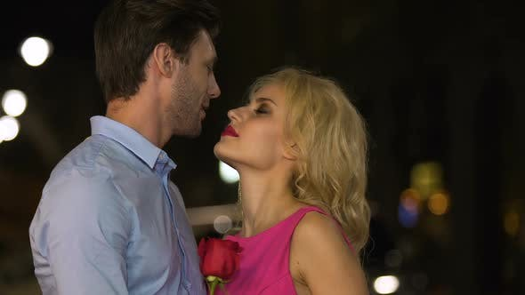 Thumbnail for Beautiful blonde looking at her man with eyes full of passion and temptation