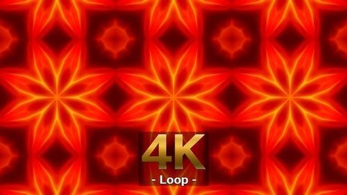 Fire Color Kaleidoscope Loop 4K 04