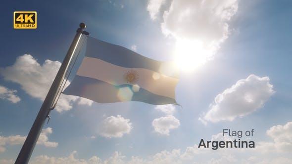 Thumbnail for Argentina Flag on a Flagpole V2 - 4K
