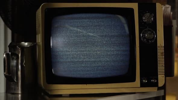 Thumbnail for Old TV Turning On Static Noise.