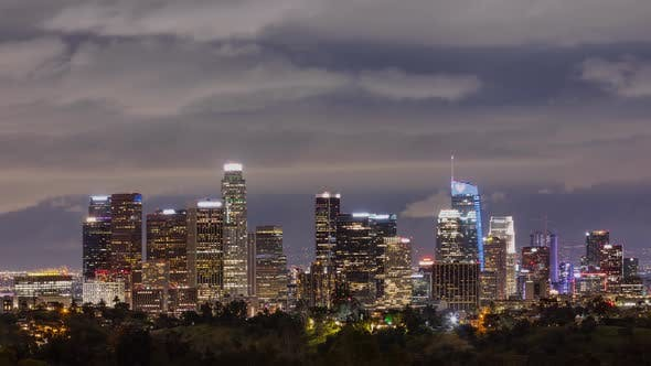 Thumbnail for Time Lapse of the Los Angeles skyline at night