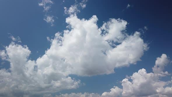 Clouds timelapse on daylight
