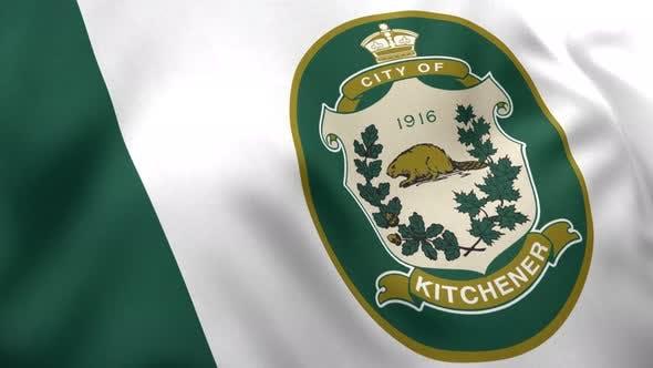 Kitchener City Flag (Ontario) - 4K