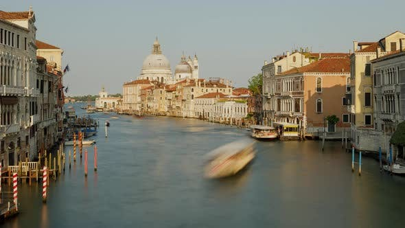 Thumbnail for Time Lapse of the Grand Canal in Venice Italy