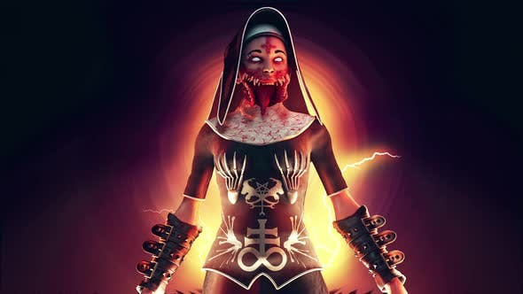 Cursed Nun VJ Loop
