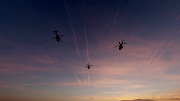 Thumbnail for 4K Military Helicopters - Sunset