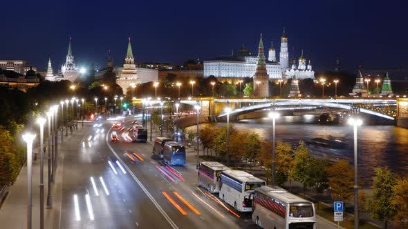Thumbnail for Night hyperlapse of Moscow Kremlin