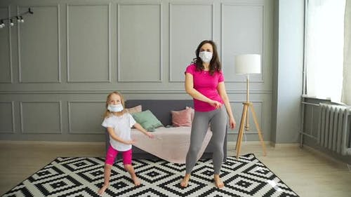 Mother and Daughter Having Fun at Self-Isolation