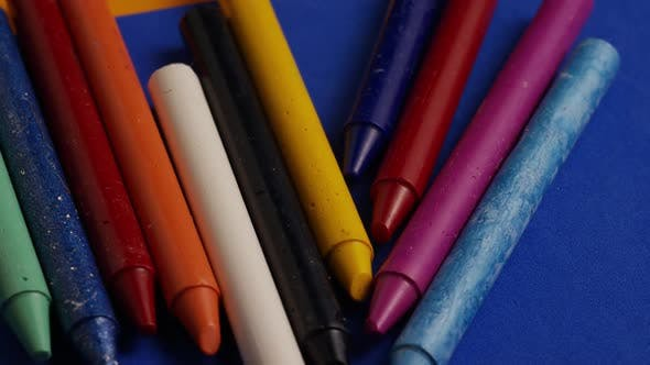 Thumbnail for Rotating shot of color wax crayons for drawing and crafts - CRAYONS 021